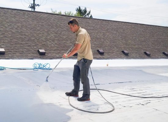 Prime roof with Tack Coat primer.