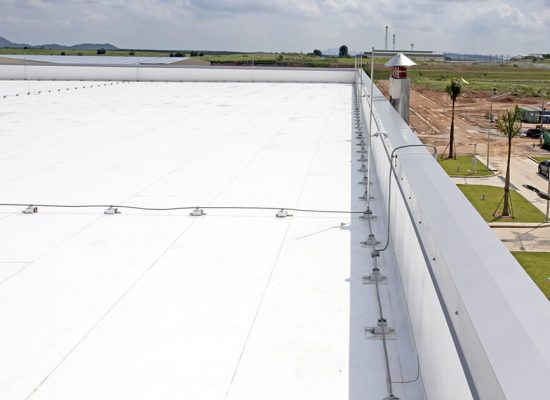 Trim on PVC Roofing